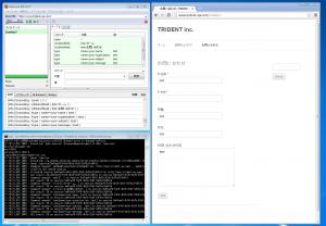 Selenium IDEを使って、Chrome上でスクリプトを実行している様子