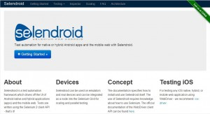 Selendroidのウェブサイト