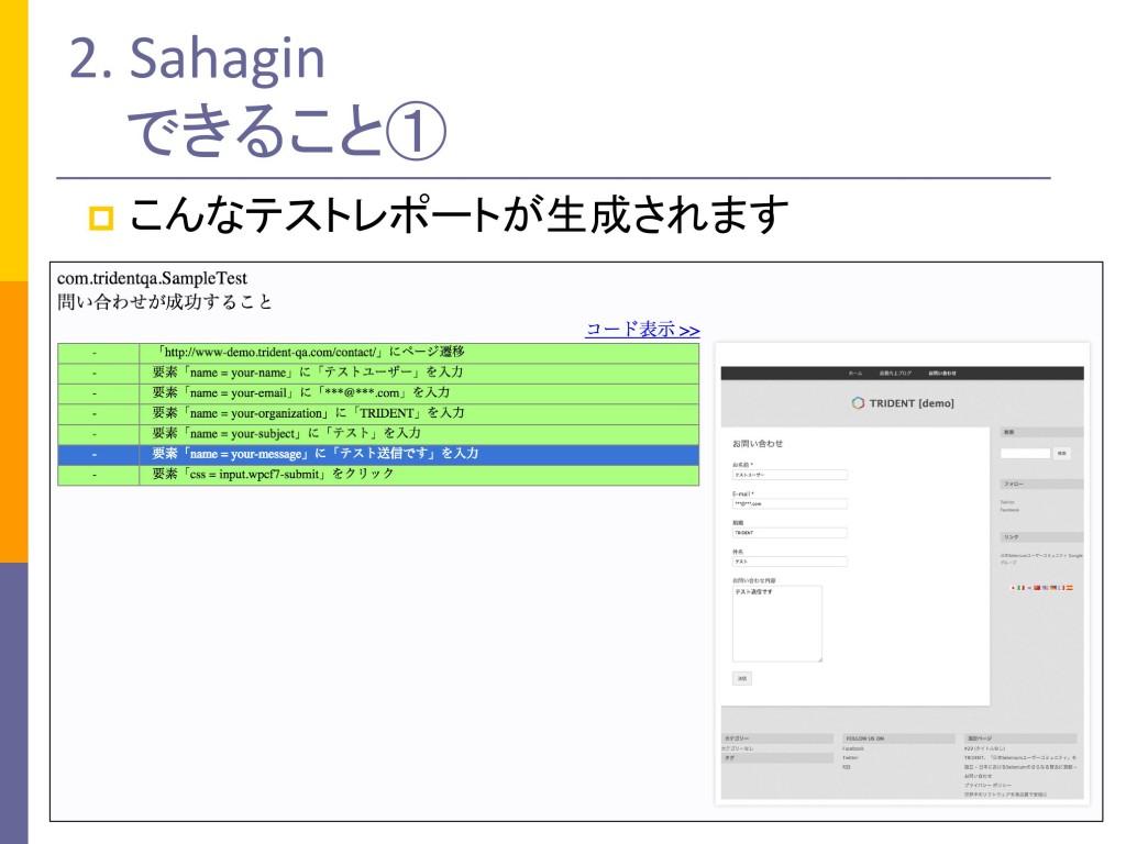 Sahaginレポート
